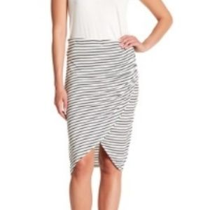 NWT Max Studio Stripe Wrap Skirt knit